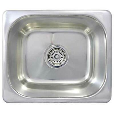 New BAR KITCHEN SINK Small Stainless Steel Single Basin Caravan SE3 355x305x130