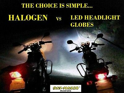 The Most Brightest Legal LED Headlight Hi/Low Globe  for Bikes & Scooters M3plus