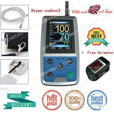 CONTEC FDA 24h Ambulatory Blood Pressure Monitor+USB Software NIBP Holter ABPM50