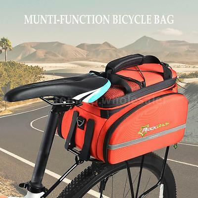 12L Cycling Rear Back Saddle Pack Bag Bicycle Trunk Pannier Carrier Bags H1M4