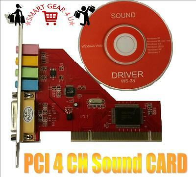 PCI 3D STEREO SOUND AUDIO CARD Creative CT5880 Chipset Win 7 32bit Vista XP PC