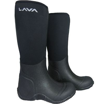 Ladies Mens Warm Wellington Rubber Muck Boots All Sizes Waterproof Thermal Moon