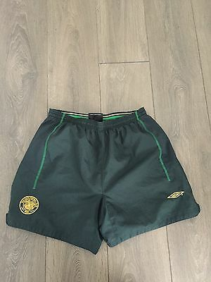 Celtic Away Shorts 2002/03 Large Rare And Vintage