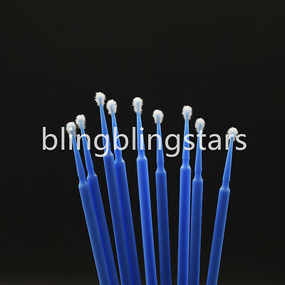 400 Pcs Dental Disposable Micro Applicator Brush Bendable 2.5mm Blue Regular