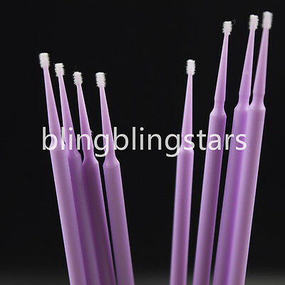400 Pcs Dental Disposable Micro Brush Applicator 1.5 mm Ultrafine Bendable