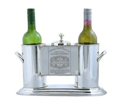 French Nickel Plated 2 Bottle Wine Cooler - Wine Bucket
