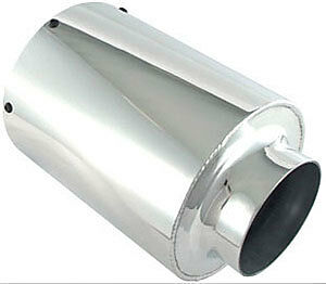 """6"""" Od Universal Aluminum In-Line Air Box Pod Filter 4"""" Inlet"""