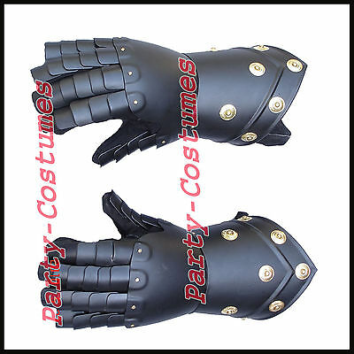 Medieval Gauntlets Functional Knight Mitten Gloves Re-enactment Larp SCA costume