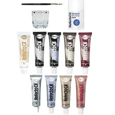 Refectocil Eyelash Tint Eyebrow Tinting Dye Kit Brush Dish Developer Eye Lashes