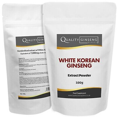 White Korean Ginseng Extract - 10:1 - Pure White Panax - Strength & Quality