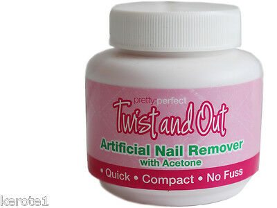 Artificial Nail Remover Twist n Out Quick Compact No Fuss Acetone Home Care Kit