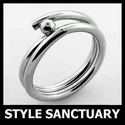 Silver Ring - Mens Ladies Womens Girls - Wedding Engagement Band - Small - Large