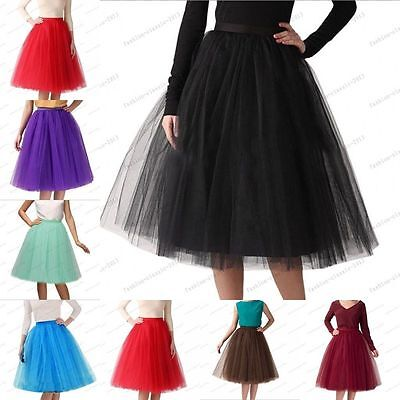 Women Girls 6 layer 65cm skirt length Tulle Skirt Skirts Adult Tutu Ball Gown