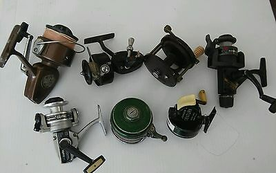 Mixed Lot of 7 Vintage Fishing Reels