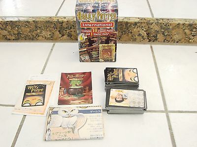 Harry Potter Trading Cards International, poster lots of cards not English 2006