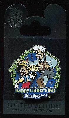 DLR Happy Father's Day 2008 Pinocchio and Geppetto LE Disney Pin 61642