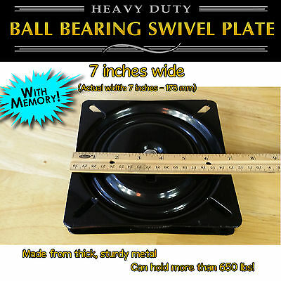 1pc - 7 inch (173mm) Full Ball Bearing Flat Swivel Plate with MEMORY RETURN