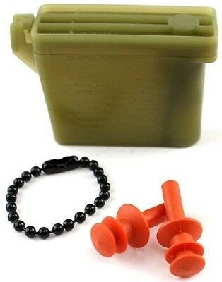 592e9fa639e NEW SIZE MEDIUM Military Issue Ear Plugs W  Storage Case Tactical Earplugs  26db