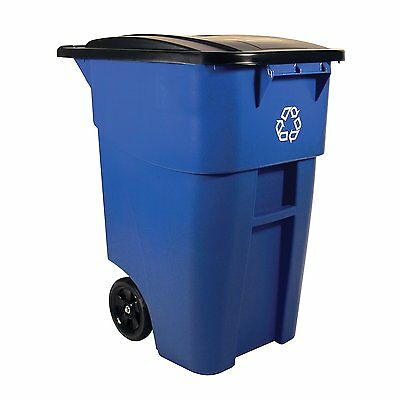 Trash Container Heavy Duty Rollout Commercial Waste Utility Garbage Recycle Can