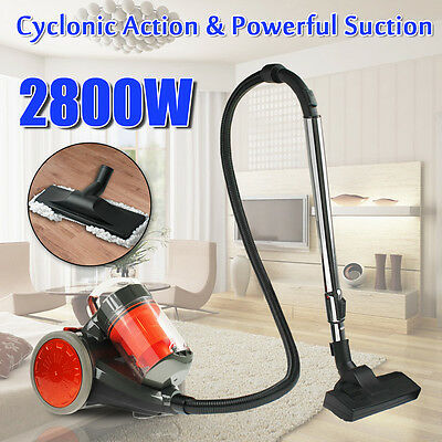 2800W Cyclone Cyclonic Bagless Vacuum Cleaner Filtration System Floor Brush Head