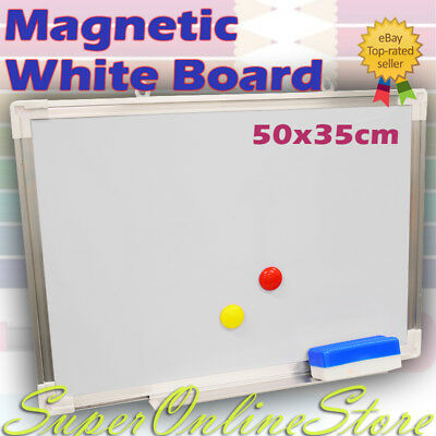 WHITEBOARD Brand New Magnetic  500mm x350mm Commercial Quality