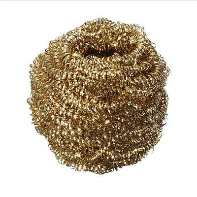 Quality Gold Solder Iron Tip Steel Cleaner Cleaning Wire Ball Deep Clean Tool