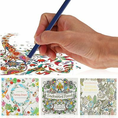 Enchant Forest Animal Kingdom Fantasy Dream Drawing Coloring English Book Adult