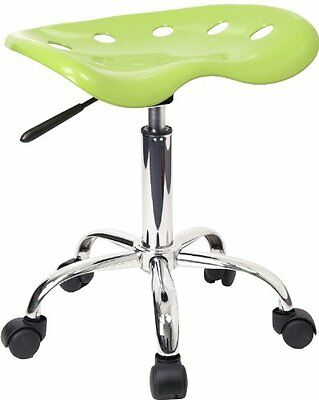 Flash Furniture LF-214A-APPLEGREEN-GG Vibrant Apple Green Tractor Seat and Stool