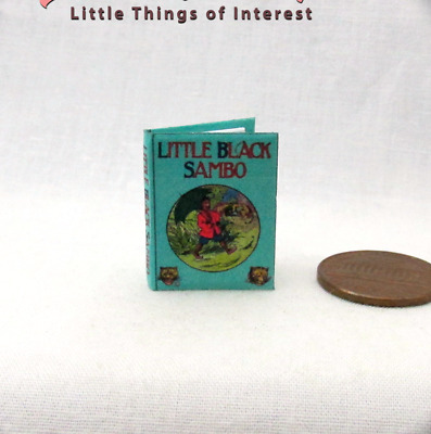 LITTLE BLACK SAMBO Dollhouse Miniature Book 1:12 Scale Book Illustrated Readable
