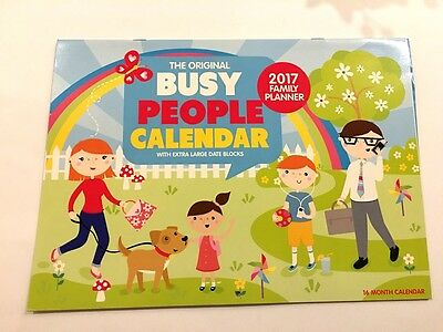 Busy People Family Planner 2017 Wall Calendar Rectangle Home Organizer-16 Months