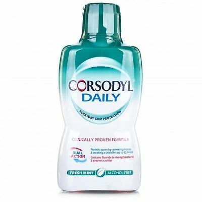 CORSODYL DAILY FRESH MINT 500ml EVERYDAY GUM PROTECTION MOUTH WASH