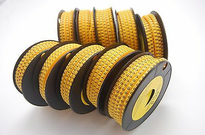 10000PCS For 0.75-1.5mm2 wire EC-0 Cable Markers Number 0-9 soft PVC 10 Rolls