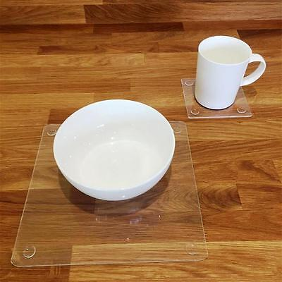 Clear Square Placemat and Coaster Set