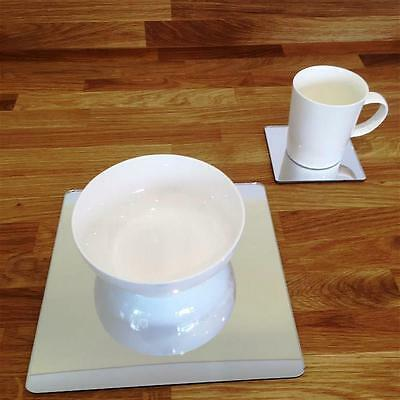 Mirrored Square Placemat and Coaster Set