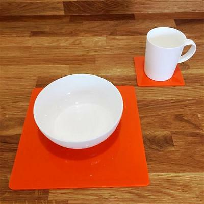 Orange Square Placemat and Coaster Set
