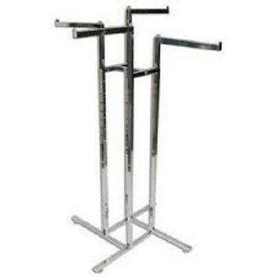 """New Chrome 4 Way Clothing Rack, 4- 16"""" Straight Arms!!!"""