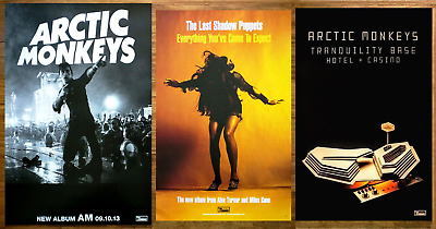 ARCTIC MONKEYS AM THE LAST SHADOW PUPPETS Everything 2 Ltd Ed RARE Posters Lot!