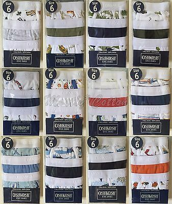 NiP New 3pk boys 6 OshKosh B'Gosh cotton briefs underwear sharks sports patterns