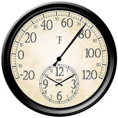 Taylor Precision Products 91575 14-Inch Thermometer With Clock
