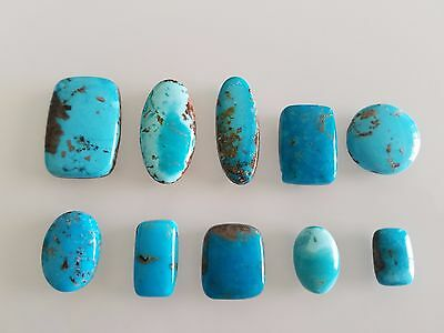 111 CT 100% Genuine Persian Turquoise Cabochons