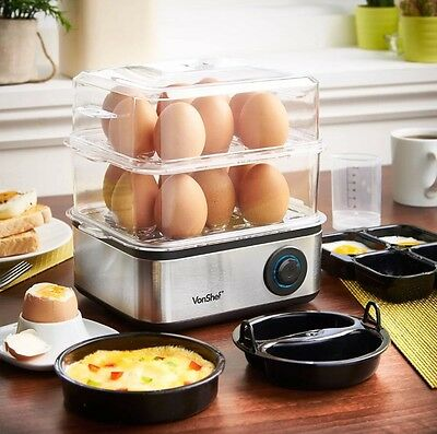 Electric 16 Egg Boiler Steamer Poacher Cooker Omelette Maker Kitchen Omlet Gift!