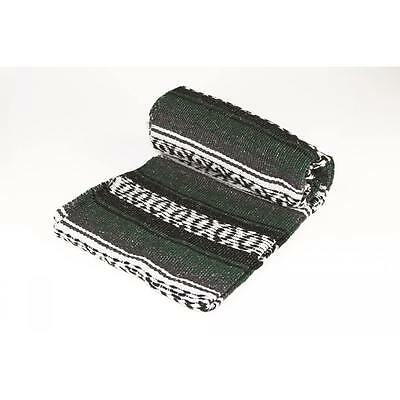 """Authentic Forest Green Mexican Blanket Hand Woven 73"""" X 48"""""""