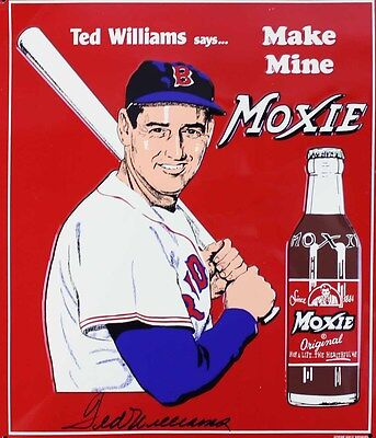 """Ted Williams Moxie Soda Sign  8.5""""x11"""" Wall Poster  Decor Mancave #3"""