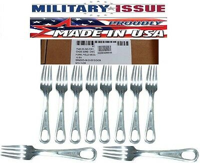 Mess Kit Forks U.S.G.I. Genuine Military Issue Mess Kit Fork 10 Pc Boxed NEW $$$