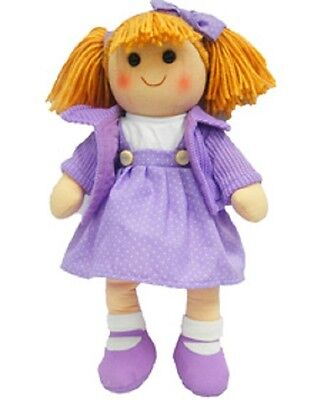New Childs Toy Rag doll woollen hair soft body & outfit ragdoll dolly - Chelsea