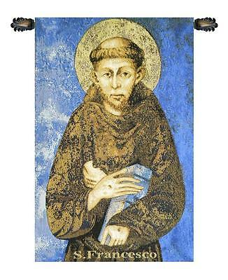 St. Francis From Assisi Italian Wall Hanging A - H 18 x W 11 Wall Tapestry
