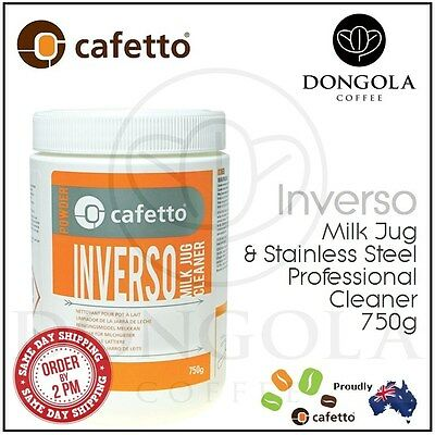 CAFETTO 750G INVERSO Milk Jug, Coffee Machine Steam Wand Stainless Steel Cleaner