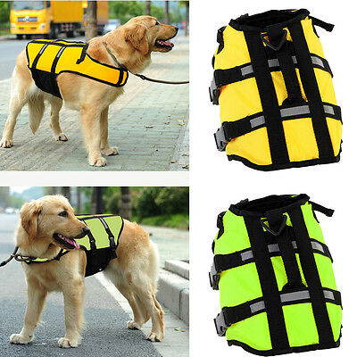Pet Dog Life Jacket Safety Float Vest Swimming Boating Preserver Aquatic Saver