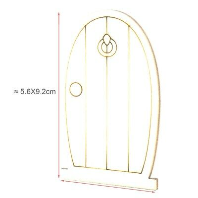 5 x Fairy Door A- Wood Craft Decoration DIY - Party bag gift girl