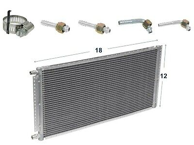A//C AC Universal Condenser 12 X 18 Parallel High Flow O-ring #6 /& #8